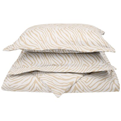 Impressions Reversible Duvet Cover Set Size: Full/Queen, Color: White