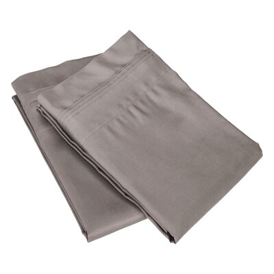 Superior Pillowcase Color: Grey, Size: King