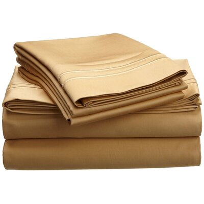 1600 Thread Count Cotton Sheet Set Color: Gold, Size: Queen