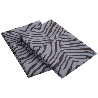 Impressions Wrinkle Resistant Animal Print Pillowcase Size: King, Color: Gray