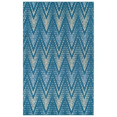 Vergara Arete Blue Area Rug Rug Size: 5 x 8