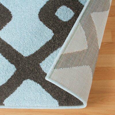 Hartland Diamond Pave Blue Area Rug Rug Size: 5 x 8