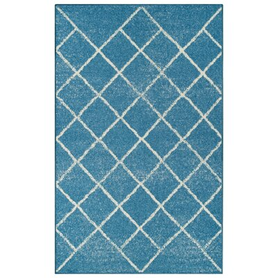 Verity Lattice Blue Area Rug Rug Size: 5' x 8'