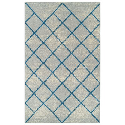 Verity Lattice Gray Area Rug Rug Size: 8 x 10