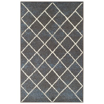 Verity Lattice Slate Area Rug Rug Size: 5 x 8