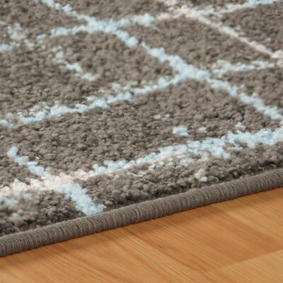 Calista Painted Stripes Gray Area Rug Rug Size: 5 x 8