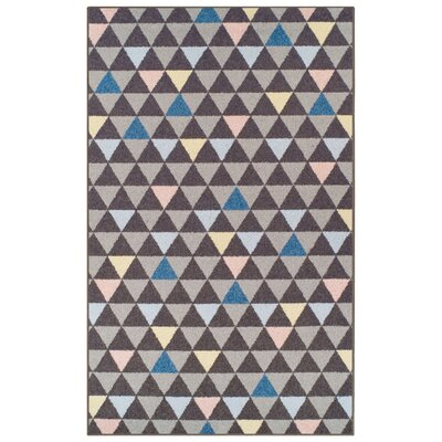 Kendra Pastel Aztec Gray Area Rug Rug Size: 5 x 8