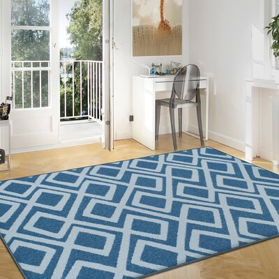 Darroll Flagstone Blue Area Rug Rug Size: Rectangle 8 x 10
