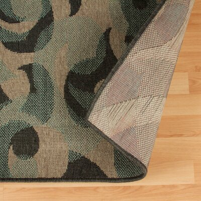 Buchanon Indoor/Outdoor Green/Beige Area Rug Rug Size: 5 X 8