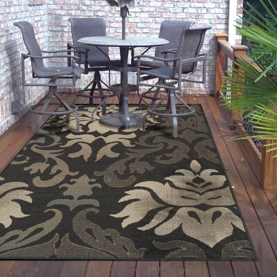 Buchanon Buchan Indoor/Outdoor Brown/Beige Area Rug Rug Size: Rectangle 4 X 6
