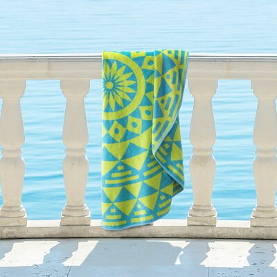 Round Geometric Cotton Beach Towel