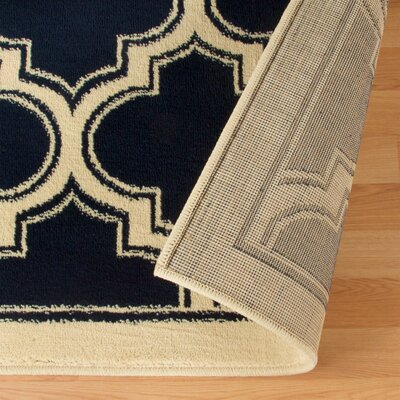 Stroudsburg Trellis Navy Blue Area Rug Rug Size: Rectangle 8 x 10