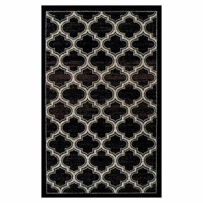 Angelita Trellis Black Area Rug Rug Size: Rectangle 5 x 8