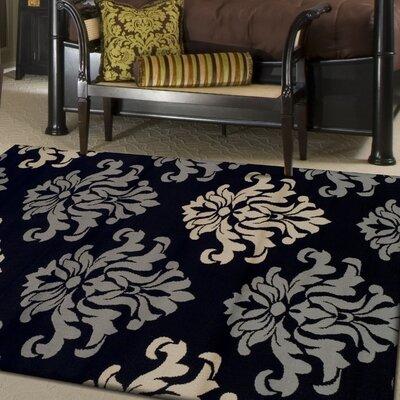 Diann Black Area Rug Rug Size: 4 x 6