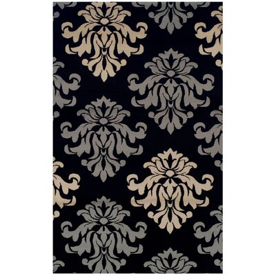 Diann Black Area Rug Rug Size: Rectangle 4 x 6
