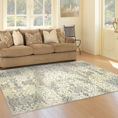 Francesca Beige Area Rug Rug Size: Rectangle 4 x 6