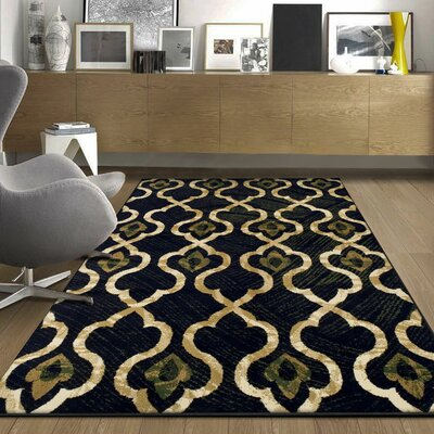 Colena Blue Area Rug Rug Size: Rectangle 4 x 6