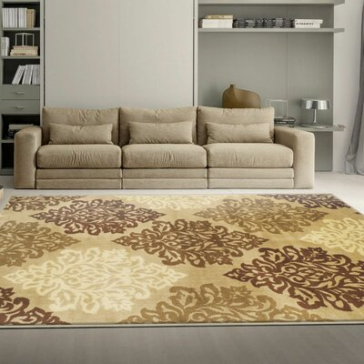 Burbank Beige Area Rug Rug Size: Rectangle 8 x 10