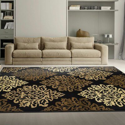 Burbank Black Area Rug Rug Size: Rectangle 4 x 6