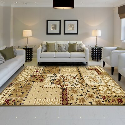Colena Flower Patch Brown Area Rug Rug Size: 8 x 10