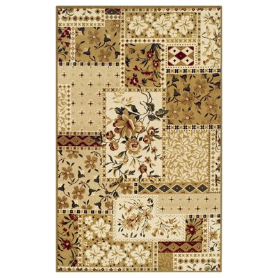 Colena Flower Patch Brown Area Rug Rug Size: 5 x 8