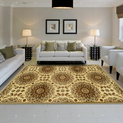 Goshen Gold Area Rug Rug Size: 8 x 10