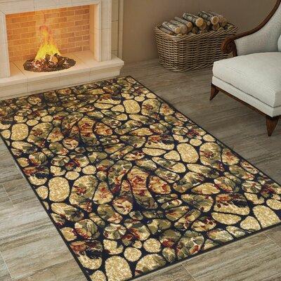 Colena Mosaic Tile Beige/Green Area Rug Rug Size: 8 x 10
