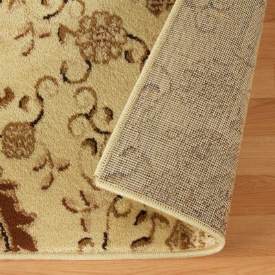Goshen Contemporary Gold Area Rug Rug Size: Rectangle 4 x 6