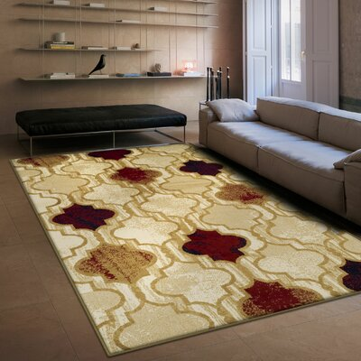 Colena Beige Area Rug Rug Size: Rectangle 5 x 8
