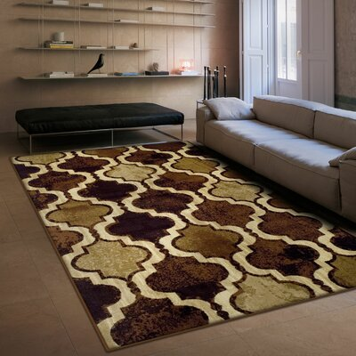 Colena Coffee Area Rug Rug Size: 8 x 10