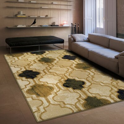 Colena Cream Area Rug Rug Size: Rectangle 5 x 8