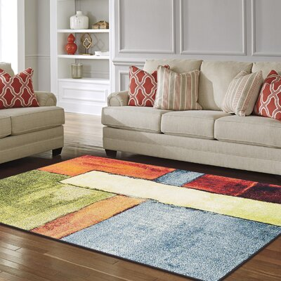 Wagner Soft Yellow/Orange Area Rug Rug Size: 4 x 6