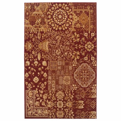Callicoon Red Area Rug Rug Size: 4 x 6