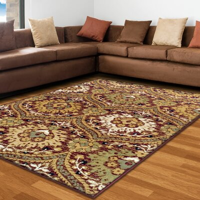 Charmine Red/Green Area Rug Rug Size: 5 X 8