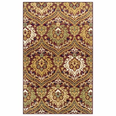Charmine Red/Green Area Rug Rug Size: Rectangle 5 x 8