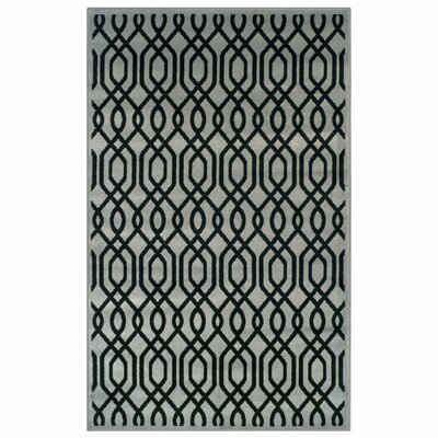 Bellucci Black/Gray Area Rug Rug Size: 4 X 6