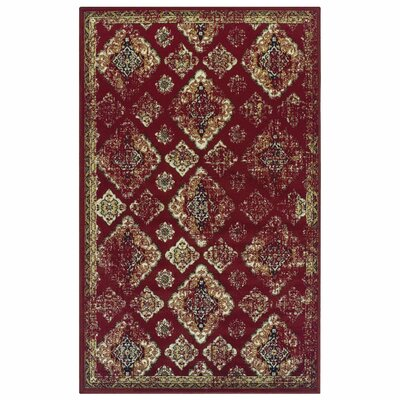 Chauntel Red Area Rug Rug Size: 5 X 8