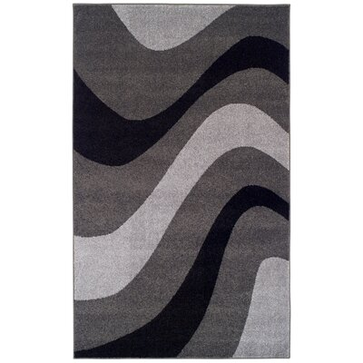 New Wave Gray Area Rug Rug Size: 4 x 6