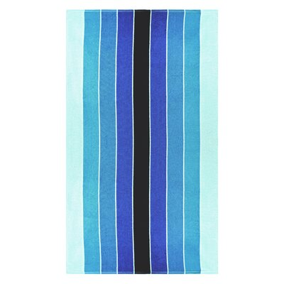 Contemporary Striped 100% Cotton Beach Towel