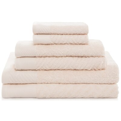 West Side 6 Piece Towel Set Color: Ivory