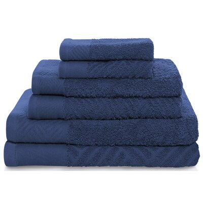 6 Piece Towel Set Color: Royal Blue