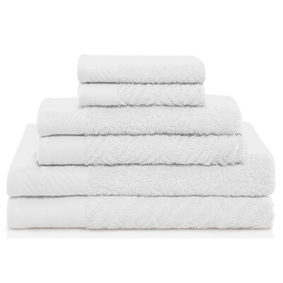West Side 6 Piece Towel Set Color: White