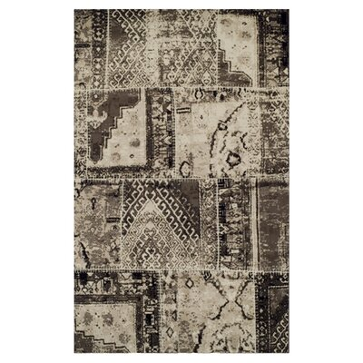 Kelsie Ivory/Brown Area Rug Rug Size: 4 x 6