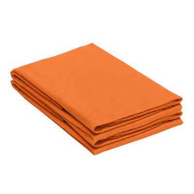 Flannel Cotton Pillow Case Size: Standard, Color: Pumpkin