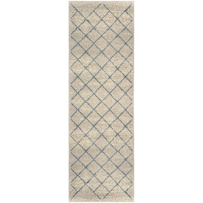 Verity Lattice Gray Area Rug Rug Size: Runner 27 x 8