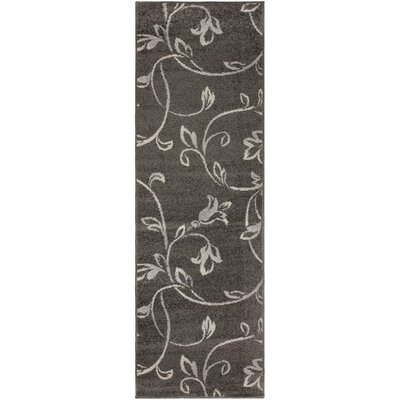 Breese Vine Black Area Rug Rug Size: Runner 27 x 8