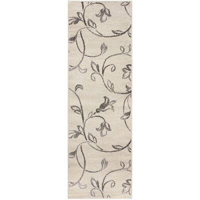 Breese Vine Ivory Area Rug Rug Size: 2.6 x 8