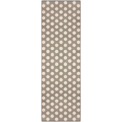 Bernard Dot Gray Area Rug Rug Size: Runner 27 x 8