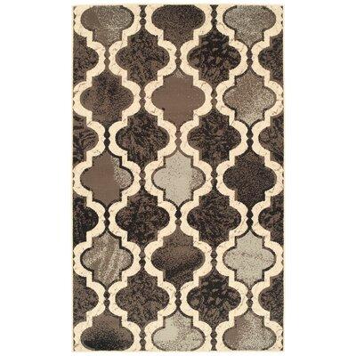 Calvin Brown/Gray/Black Area Rug Rug Size: Rectangle 3 x 5