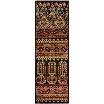 Saylorsburg Brown Area Rug Rug Size: Runner 27 x 8